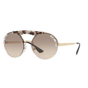 Prada Women's Round Sunglasses PR52US C3O3D0
